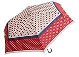 折りたたみ傘 ドット&ドット ミニ レッド BE-01243