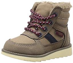 OshKosh B\'Gosh Jagger B Lace Up Hi Top Boot (Toddler/Little Kid), Grey, 6 M US Toddler