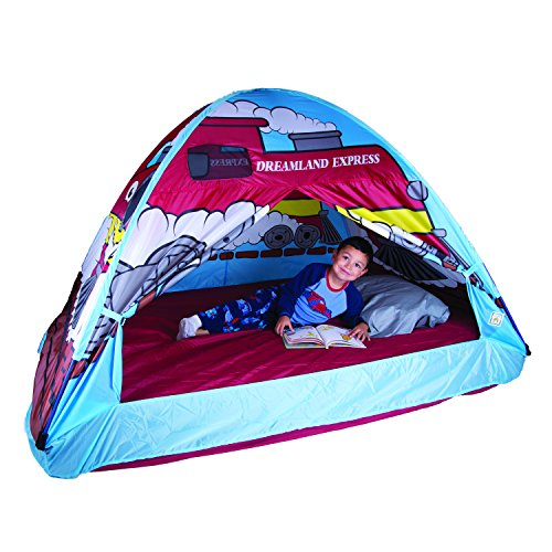 "Pacific Play Tents Dream Land Express Train Twin Bed Tent Fits Over A Full Size Mattress"", Size: 77"" X 54"" X 40"" High"