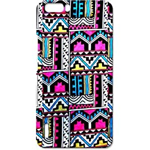 Crackndeal 4AZTCH6PLUS Back cover for Huawei Honor 6 Plus, (Multi-coloured)