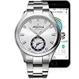 Alpina Men's AL-285S5AQ6B Horological Smart Analog Display Swiss Quartz Silver Watch
