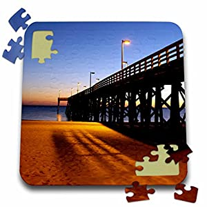 Danita Delimont - Florida - Public Pier, Gulf of Mexico, Panama City, Florida - US10 FVI0111 - Franklin Viola - 10x10 Inch Puzzle (pzl_89135_2)