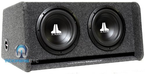 "Jl Audio Cp210-W0V3 Dual 10"" 10W0V3-4 Loaded Ported Enclosure With Gray Carpet Finish"