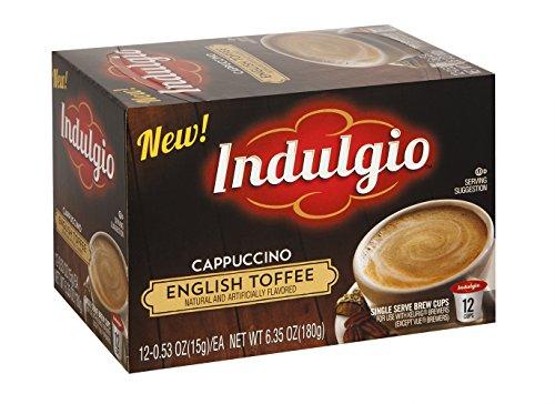 Indulgio French Vanilla Cappuccino Single Serve for Keurig