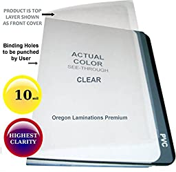 10 Mil Legal Clear Plastic Report Covers 8-1/2 x 14 Qty 100 Binding Sheets