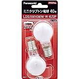 パナソニック ミニクリプトン電球 110V 40W形(36W) E17口金 35mm径 ホワイト 2個入り LDS100V36WWK2P
