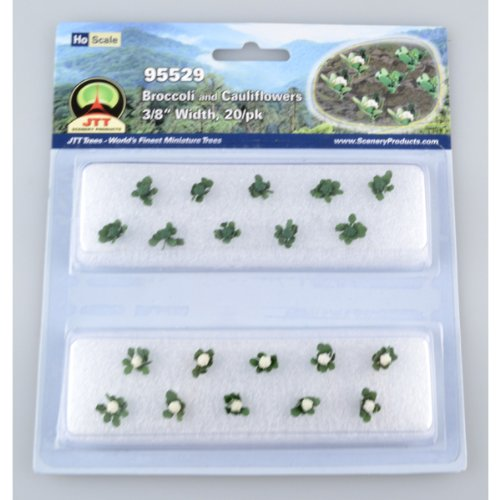 Jtt Scenery Products Gardening Plants Broccoli And Cauliflowers Ho Scale Hobby Train Sceneries