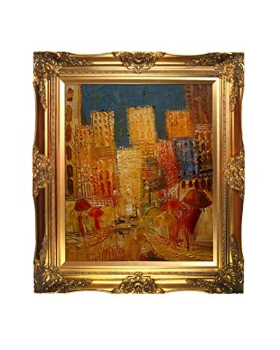 "Justyna Kopania ""Street II"" Framed Giclée on Canvas, Multi, 32″ x 28″"