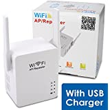 Wireless Repeater, WOSUK USB Wireless-N Wifi Repeater With Micro USB Charging Port WLAN 802.11n/b/g Network Router...