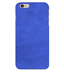 PrintVisa Blue Leather Design 3D Hard Polycarbonate Designer Back Case Cover for Apple iPhone 6 Plus