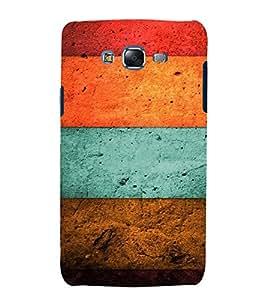 Fuson Premium Back Case Cover Coloured wood With Black Background Degined For Samsung Galaxy J7::Samsung Galaxy J7 J700F