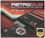 Retro-Bit Retro Duo Twin Video Game System NES and SNES - Black/Red