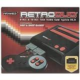 Retro-Bit Retro Duo Twin Video Game System NES and SNES - Black/Red ~ Retro-Bit