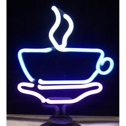 """Coffee Cup Neon Sculpture - By Neonetics (Multicolor) (17""""H X 12""""W X 6""""D)"""