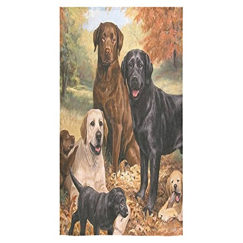 Funny Cute Labrador Retriever Dogs Puppies Soft Bath/Beach Towel Face Towel Hand Towel(One Side)20% cotton 80% polyester(30x56inches)