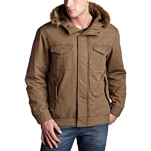 Timberland Men's Hooded Snorkel Jacket,English Khaki,Large