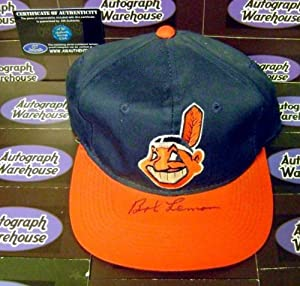 Bob Lemon autographed Baseball Cap (Cleveland Indians) - Autographed MLB Helmets and... by Sports+Memorabilia