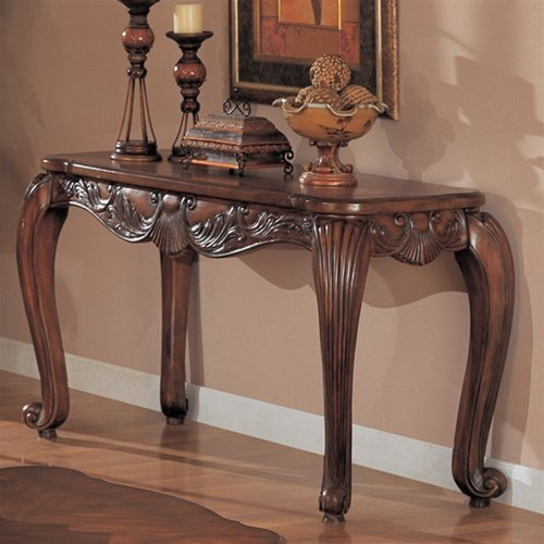 Coaster Venice Traditional Sofa Table in Deep Brown Medium Wood Finish