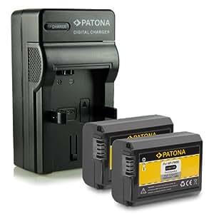 M&L Mobiles® Nouveauté - 4en1 Chargeur + 2x Batterie comme FW-50 pour Sony