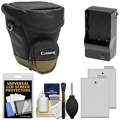 Canon Zoom Pack 1000 Digital SLR Camera Holster Case with (2) LP-E8 Batteries + Charger + Accessory Kit for Rebel T3i, T4i, T5i