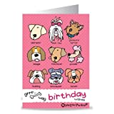 Carrots Bang On The Door Dog Pink Head Greeting Card (Pink) One Size