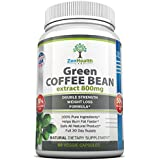 #1 Pure Green Coffee Bean Extract 800mg - EXTRA Strong ULTRA Premium Weight Loss Supplement - 50% Chlorogenic Acid - Lose Weight Naturally With This MAX Strength Diet Pill / Fat Burner - 1600mg Per Day For Fast Easy Weight Loss - Full 30 Days Supply