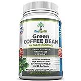 Green Coffee Bean Extract - Extrait de Grains de Café Vert Pur 800mg - Complément Alimentaire Minceur Extra Fort Ultra Premium - (50% d'acide Chlorogénique) - Perdez du Poids Naturellement Avec Cette Pilule Amaigrissante de Performance Maximale / Brûleur de Graisse - 1600mg Par Jour Pour Une Perte de Poids Rapide et Facile - Approvisionnement Complet de 30 Jours