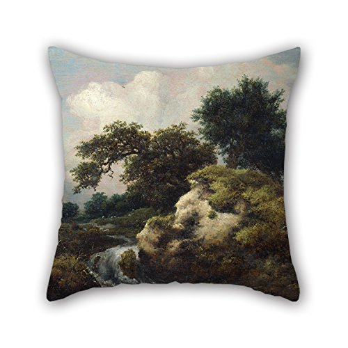 [Uloveme Oil Painting Jacob Van Ruysdael - Landscape With Dune And Small Waterfall Throw Cushion Covers 20 X 20 Inches / 50 By 50 Cm For Car,couples,study Room,indoor,kids Girls,home With Both] (Minion Costume Falls Over)