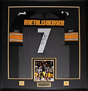 Ben Roethlisberger Pittsburgh Steelers signed jersey frame by Midway Memorabilia