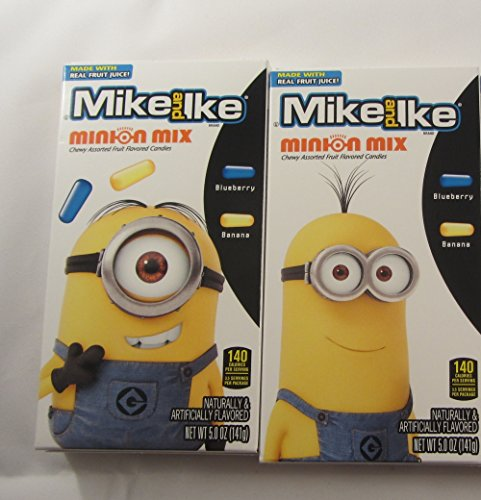 Mike And Ike Minion Mmix Chewy Assorted Fruit Flavor Candies - Two Pack With Different Designs front-977850
