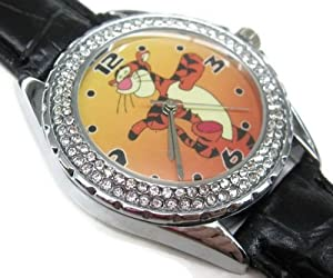 SUS295 New Leather 118 Diamond Crystal Watch / Disney Tigger