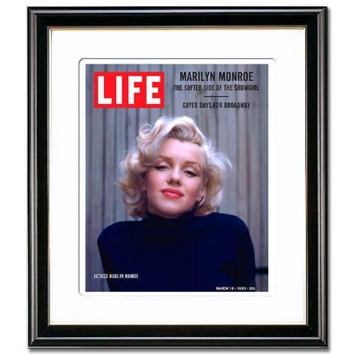 ≪ アートポスター 額付き ≫≪ マリリンモンロー ( Marilyn Monroe ) ≫ ライフ ( LIFE ) ポスター / アートパネル インテリアアート レトロ