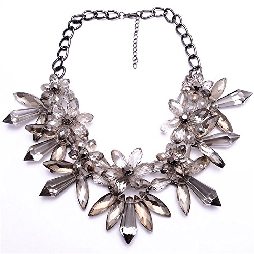 twopages-vintage-sparkly-crystal-flowers-bib-statement-choker-necklace-gray-jewelry-gifts-for-women