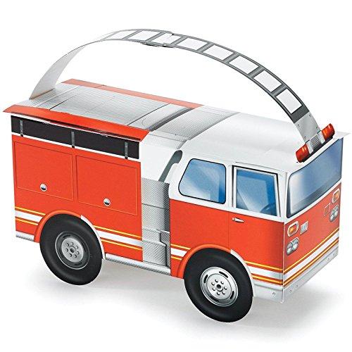 Fire Trucks Empty Favor Boxes (4)