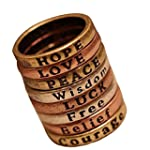 Eight Retro Curved Wishing Letters Lu...