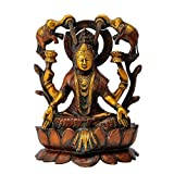Redbag Goddess Gaja Laxmi Seated On Lotus ( 25.4 Cm, 18.42 Cm, 13.97 Cm )