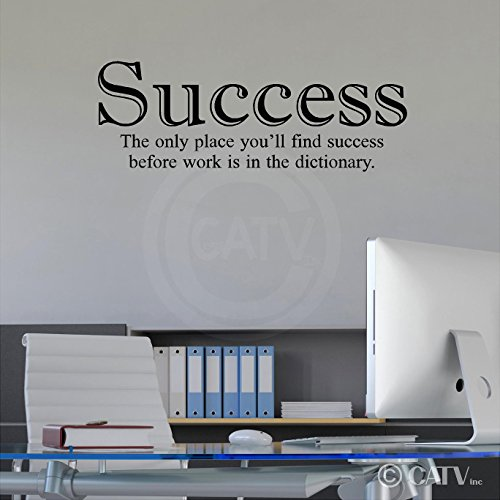 Office Quotes Wall Decals ... Sticker wall decoration · Success- the only place you'll find success before work is in the dictionary