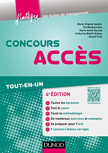 Concours Accès - 4e éd. : Tout-en-un (Concours Ecoles de Management)