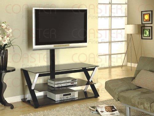 Image of Black Swivel LCD / Plasma Flat Panel TV Stand with Bracket (VF_700616)