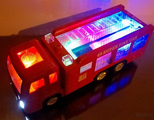 WolVol-Electric-Fire-Truck-Toy-with-Stunning-3D-Lights-and-Sirens-fire-alarm-lets-go-out-of-my-way-goes-around-and-changes-directions-on-contact-Great-Gift-Toys-for-Kids