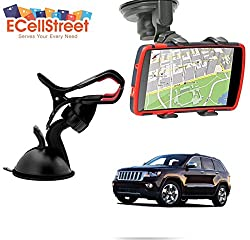 ECellStreet TM Mobile phone soft tube mount holder with suction cup - Multi-angle 360° Degree Rotating Clip Windshield Dashboard Smartphone Car Mount Holder Jeep Wrangler Unlimited
