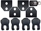 Negesu(ネグエス) 【ロゴなし!】 スバル ドア ストライカー カバー 黒 / ストッパーカバー / LEDライト [並行輸入品]