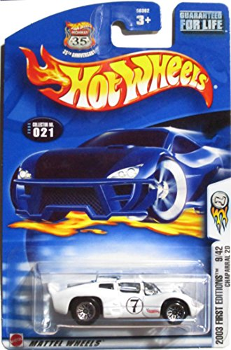 Mattel Hot Wheels 2003 First Editions 1:64 Scale White Chaparral 2D Die Cast Car #021 - 1