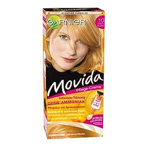 Garnier Movida Haarfarbe Intensiv-Tönung, 10 Goldblond, 3er Pack (3 x 1 Colorationsset)