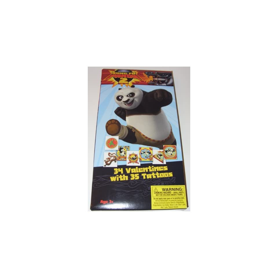 Kung Fu Panda 2 Valentines Day Cards (34 Valentines with 35 Tattoos)