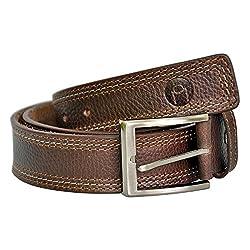 MOSPL Men's Leather Belt (OMBT3015_Brown_40)