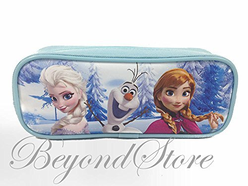 Disney Frozen Princess Elsa and Anna Blue Pencil Case Pouch Bag - 1