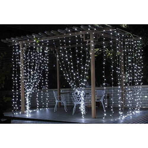 LED Canopy Tent Fairy String Lights Lighting Curtain Outdoor Party Halloween