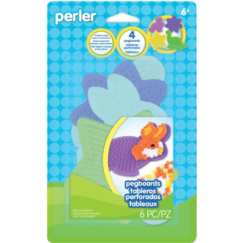 Perler Beads Small Shaped Pegboards, 4-Pack - 1