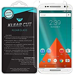 Klear Cut KlearGlass - 9H Hardness Tempered Glass Screen Protector for Motorola Moto X Pure Edition / X Style with Lifetime Replacements / 99.9% HD Clear / Shatterproof and Anti-Bubble Ballistic Glass